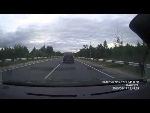 Дорога из Сарова на Москву в объезд М7: проезд по Р124 и Р105 до А108, август 2015