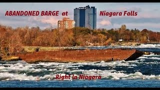 Old Barge abandoned in upper Niagara River