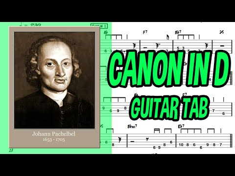 Learn How to Play Canon In C Fingerstyle Acoustic Guitar Lesson TABS