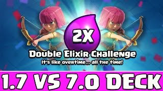 1.7 VS 7.0 Deck in DOPPELTER ELEXIER HERAUSFORDERUNG | Clash Royale deutsch/german Kevgo around