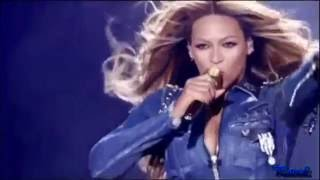 "Beyonce And Jay Z ""I Just Wanna Love U "" ""Run the World ""Paris Stade de France On The Run Tour.【HD】."
