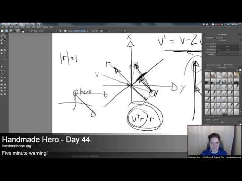 Handmade Hero Day 044 - Reflecting Vectors