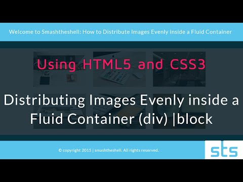 Distributing Images Evenly inside a Fluid Container using HTML5 and CSS3