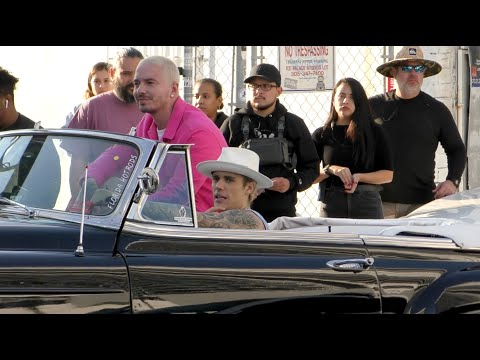 Justin Bieber and J Balvin Filming 'La Bomba' Music Video in Miami