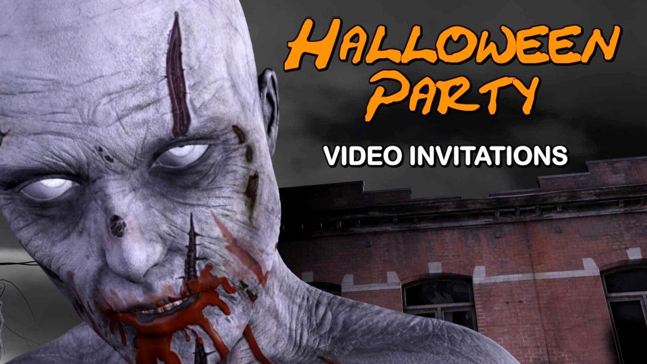 amazing halloween party invitations talking zombie video template youtube - Zombie Halloween Invitations