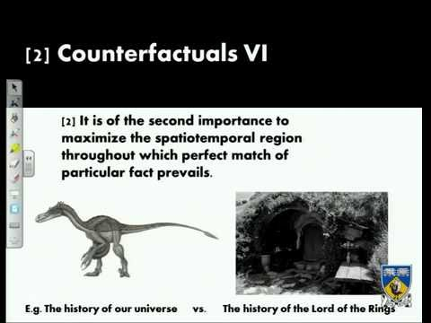 Lecture 3 - Philosophy of Causation: Counterfactuals