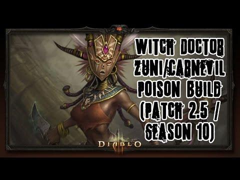 Diablo 3 (PC) Witch Doctor Zuni/Carnevil Poison Build VS Greed