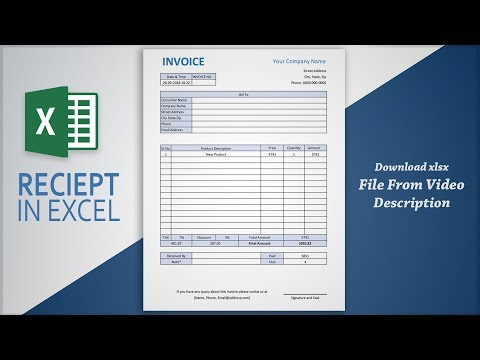 Creating Professional Invoice In Excel | Receipt Making Tutorial | Free Template