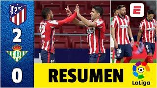 Atlético de Madrid 2-0 Betis. Luis Suárez vuelve a marcar y los del Cholo están segundos | La Liga