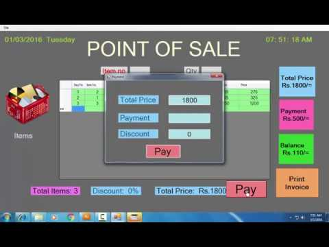 point of sale system using c#.net- step by step