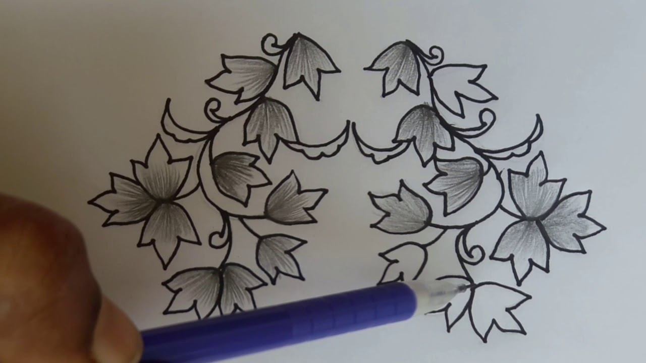 Flower Drawing With Pencil Shading Freehand Drawing Best Drawing For Beginner S Simple Easy Youtube