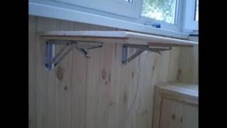 Как сделать столик на балкон из остатков материала?(Я просто уверен что после ремонта балкона остаются минимум материала.Ну не выкидывать же?Вот и рассмотрим..., 2016-09-25T05:36:04.000Z)
