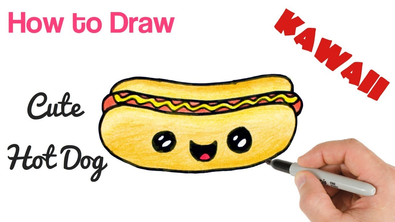 How To Draw Hot Dog Easy Youtube