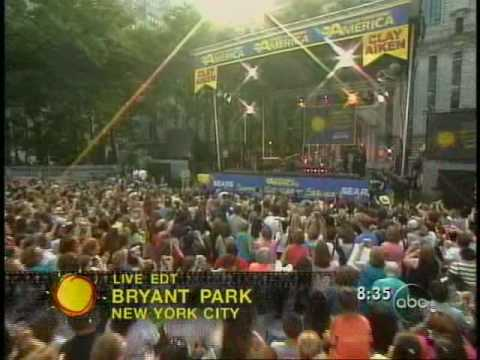 Clay Aiken - Invisible - Good Morning America - Summer Concert Series July 2, 20004