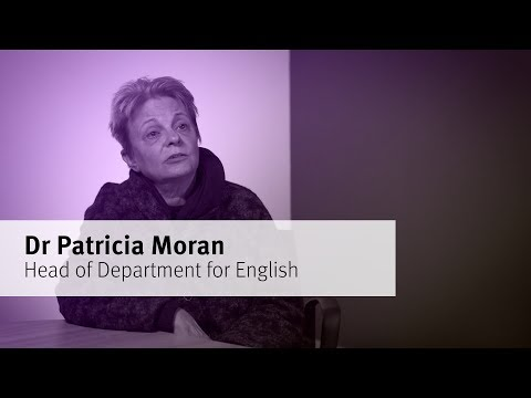 Meet Dr Patricia Moran, Head of Department for English