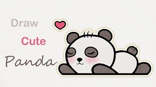 How to draw a cute Panda | Step by step art for kids