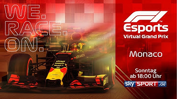 LIVE 🔴 F1 Virtual Grand Prix von Monaco | Mit Aubameyang, Leclerc und Co.