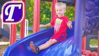 VLOG Детская Площадка в Америке - Парк Горки Стенки Качели влог видео для Детей Макс entertainment