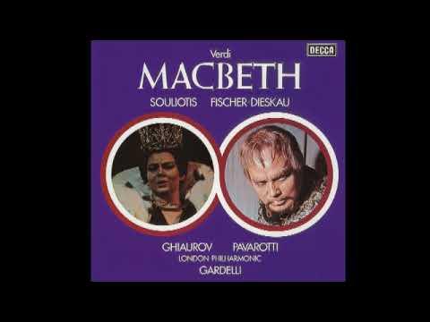 Macbeth; Fischer-Dieskau, Souliotis, Pavarotti, Ghiaurov & Gardelli; 1970
