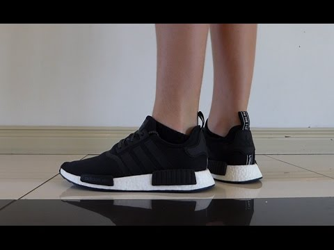 2ac4546f1db48 Adidas NMD R1 Black Reflective REVIEW + ON FEET - YouTube