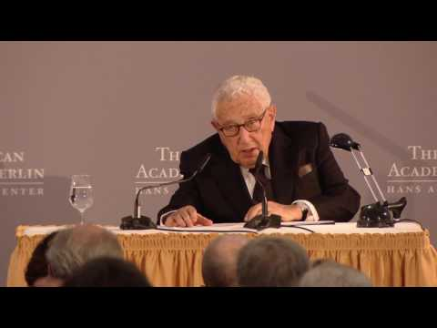Laudation for the 2017 Henry A. Kissinger Prize