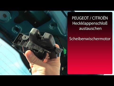 Peugeot CITROËN Heckklappenschloss austauschen Verkleidung