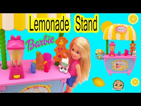 Barbie Little Sister Doll Chelsea Lemonade Stand Playset Toy Unboxing Video Cookieswirlc