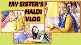 My sister's Haldi Vlog    GARHWALI HALDI VLOG   