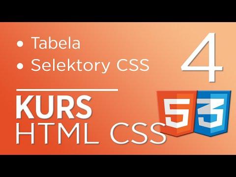 4. Kurs HTML & CSS - Tabela, Selektory CSS