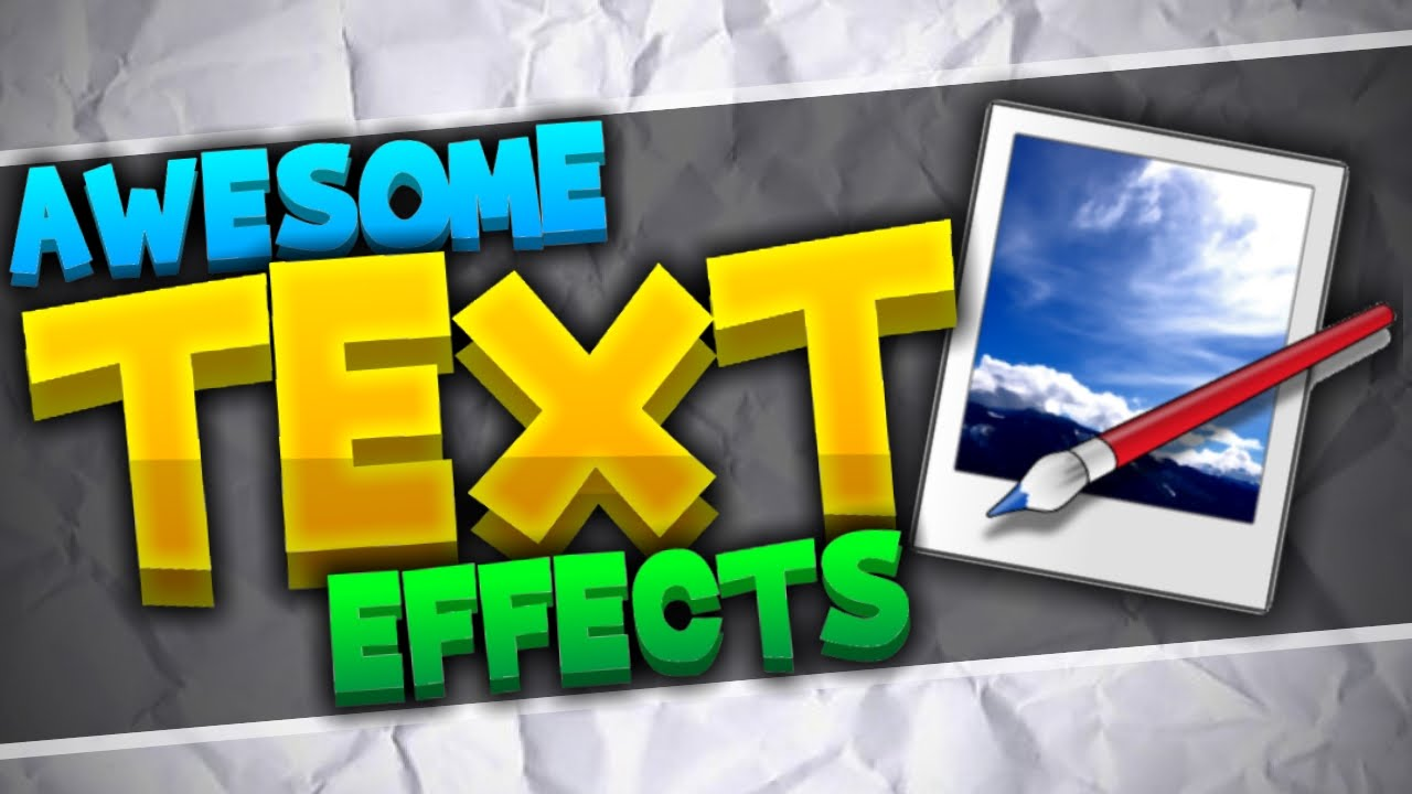How To Make Your Text Look Amazing Paint Tutorial Advanced