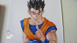 How to draw adult Gohan 孫 悟飯