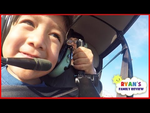 Kids fun Helicopter ride and arcade games with Ryan's Family
