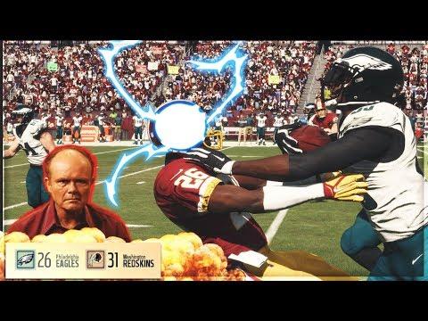 1st RAGE of Madden 18 -- Eagles vs Redskins | Madden 18 Connected Franchise