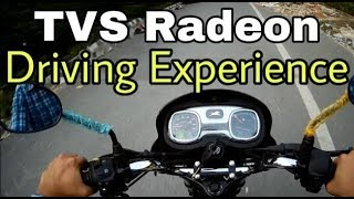 TVS Radeon Test Drive Review in HINDI
