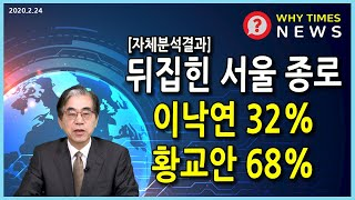 [Why Times NEWS] 뒤집힌 서울 종로 이낙연…