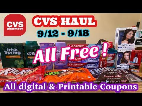 🔥All Free🔥 CVS Haul 9/12 – 9/18 | All digital & Printable Coupons |Spend $40 Get $15 Ecb Scenario