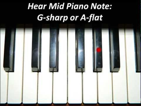 Hear Piano Note - Mid G Sharp or A Flat