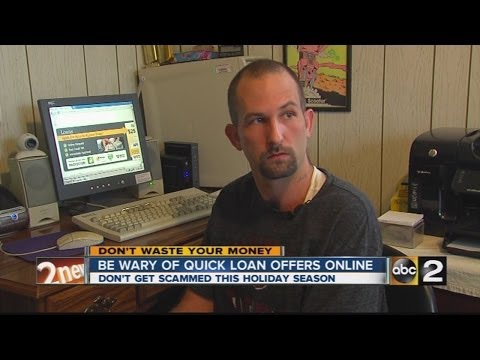 Don't fall for quick loan scams