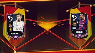 ЗАБИРАЕМ БЕЗ ДОНАТА MESSI 95 И HAZARD 95 В FIFA MOBILE 20