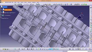 CATIA online training | car engine assembly | tutorial for beginners | assemblage bloc moteur thumbnail