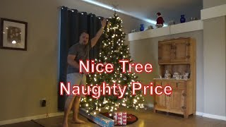Review Nice 8ft Pre-light Christmas Tree , Naughty price - $150 from Amazon