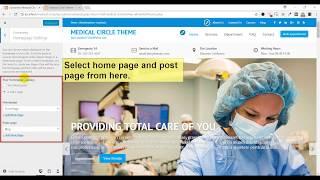 Medical Circle WordPress Theme,  Theme Options & Customizer Setup