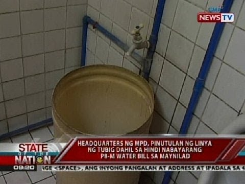 SONA: Headquarters ng Manila Police District, pinutulan ng linya ng tubig