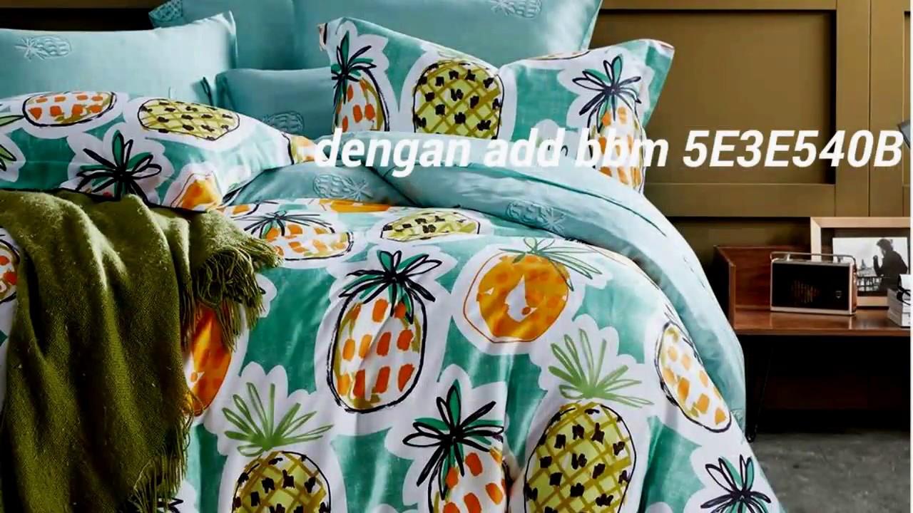Jual Bed Cover Sprei Sutra Organik Wa 087839400264 Youtube Seprai