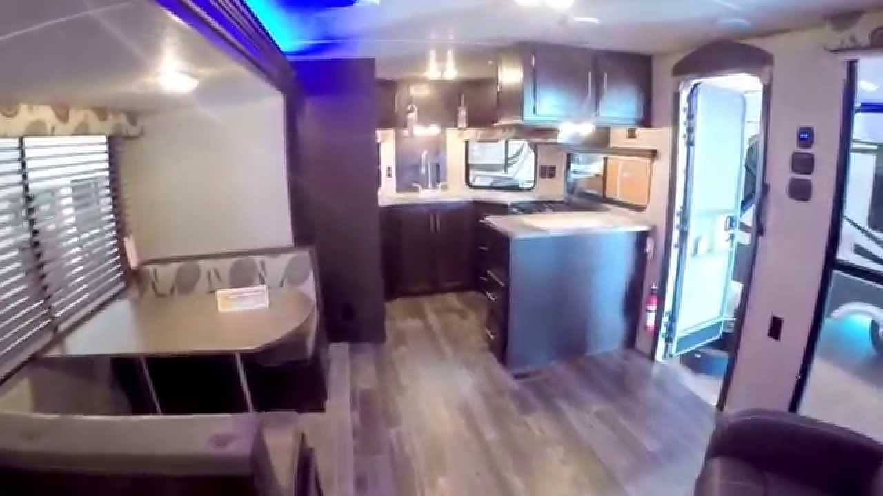 Front Kitchen Travel Trailer Pre Built Outdoor Islands 2016 Forest River Cherokee 274vfk Youtube