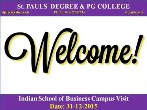 Visit To Indian Business School