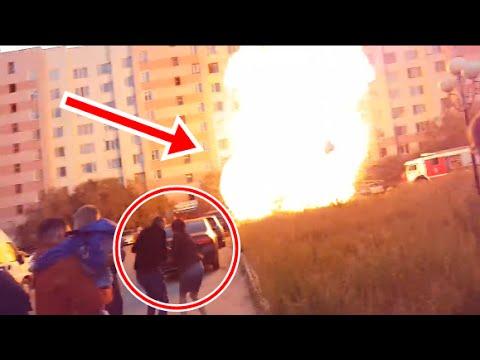 дтп и авария. В Новом Уренгое взорвалась Приора взрыв
