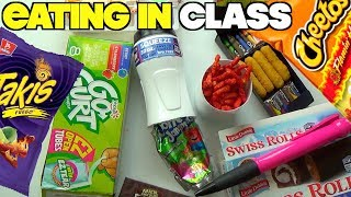 5 Ways To Sneak Candy And Snacks Into Class When You're Hungry- Back To School Hacks For Kids