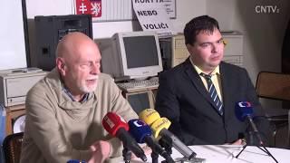 Revoluce 2018 - tisková konference - Josef Toman - zmanipulované prezidentské volby