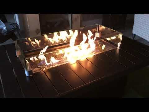 Napoleon st tropez fire table by safe home fireplace